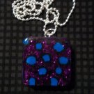 Blue and Purple Leopard Print Necklace