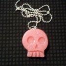 Bubblegum Pink Skull Necklace