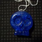 Blue Skull Necklace