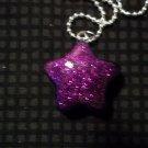 Purple Glitter Star Necklace