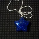 Blue Glitter Star Necklace