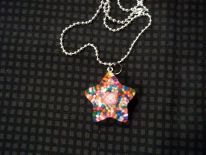 Red Sprinkle Hello Kitty Star Necklace