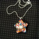 Green Sprinkle Hello Kitty Star Necklace