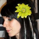 Lime Green Shasta Daisy Flower Barrette