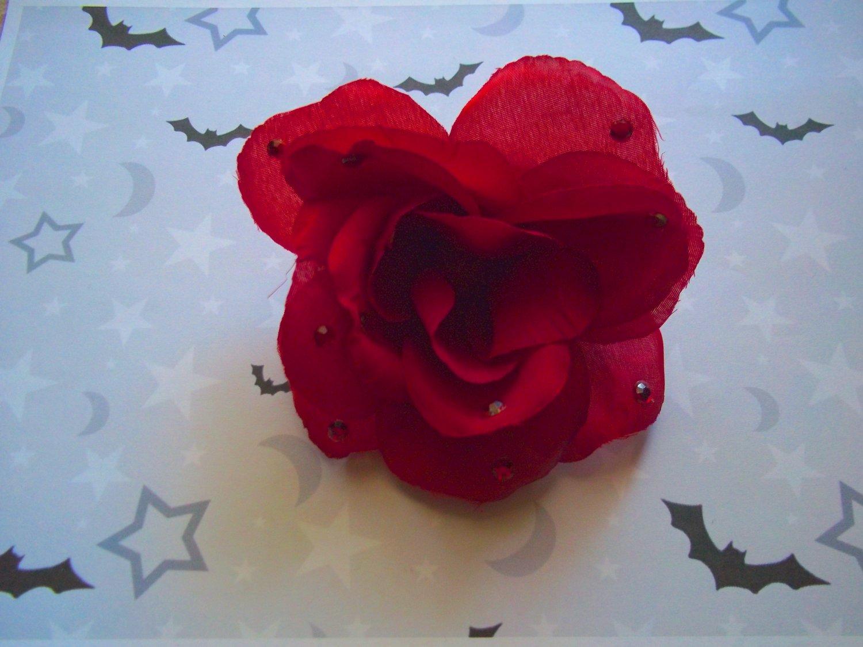 Red Rose Barrette