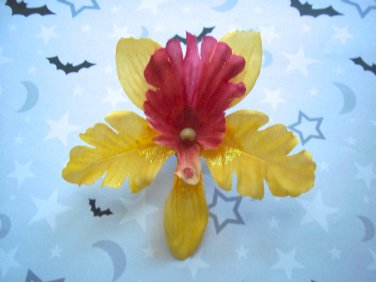 Yellow Orchid Barrette