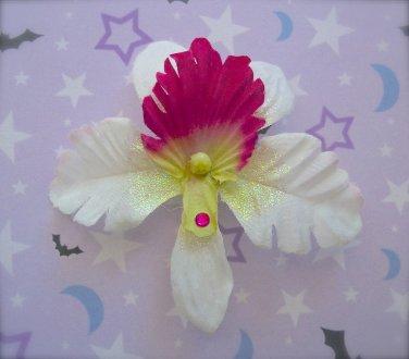 White Orchid Barrette