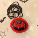 Red Bat Cameo Necklace