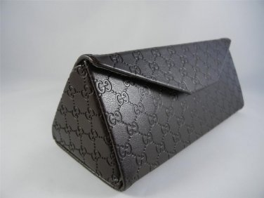 Gucci Fold Over Brown UNISEX Sunglasses/Eyeglasses Case With Cleaning Cloth