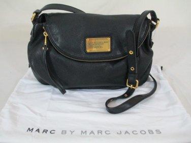 MARC BY MARC JACOBS Classic Q Natasha Black Leather Crossbody Bag
