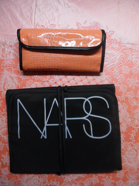 BH Cosmetics Rosy Blush Faux-Crocodile Leather 12 Pc. Brush Set & NARS Toiletry Organizer