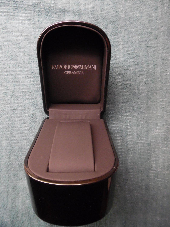 GIORGIO ARMANI Black Watch Case In Giorgio Armani Box