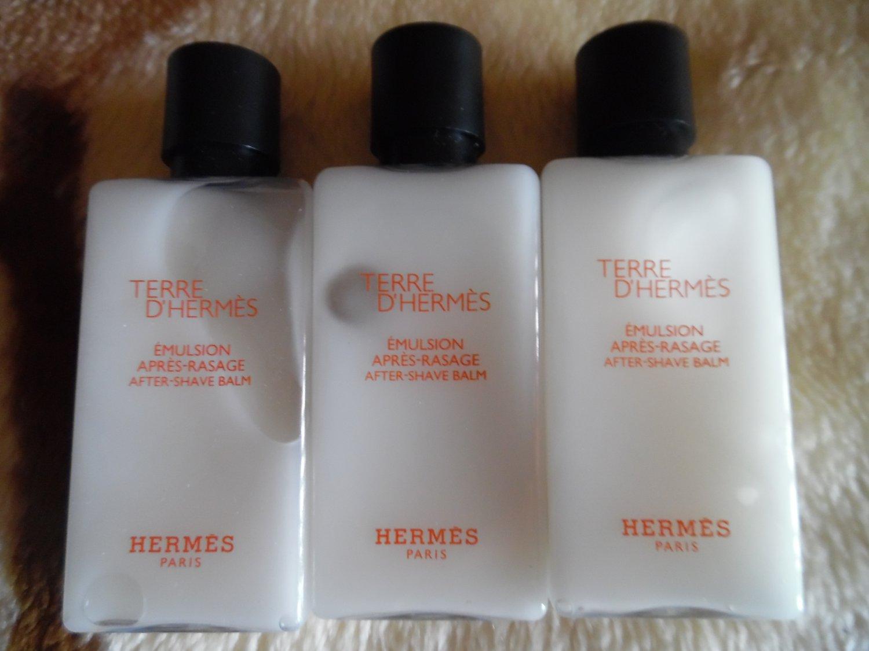 HERMES Lot Of 3 Terre d'Hermes After-Shave Balm (Alcohol Free) - 4.05 Fl.Oz/120 ml