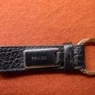PRADA Black Leather Keychain/Keyring Fob