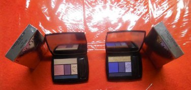 LANCOME Lot Of 2 LIMITED EDITION Color Design Eye Brightening All-In-One 5 Shadow & Liner Palettes