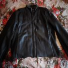 HUGO BOSS Brown Nappa Aniline Leather Jacket