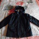 BURBERRY London Black Hooded Jacket