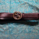 GUCCI Brown Debossed Signature Interlocking G