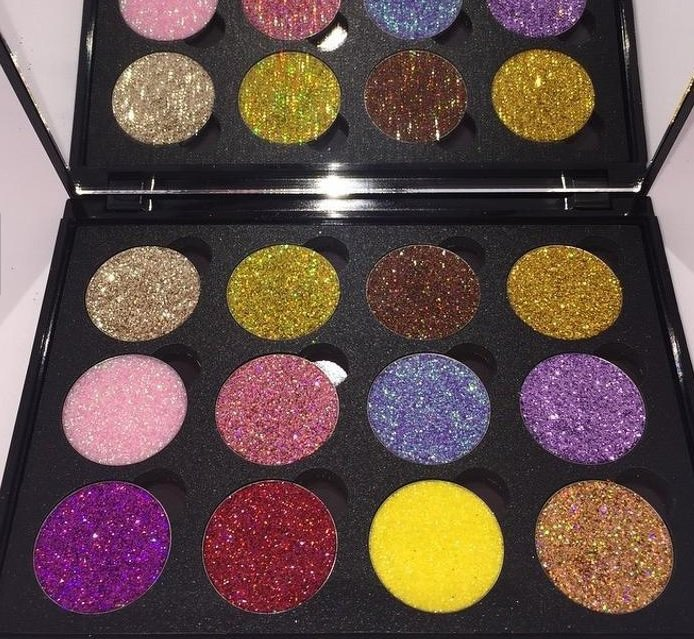 Glitter Pressed Palette - CHOICE OF 2 (Choose from palette 1 (1st pic) OR palette 2 (2nd pic)