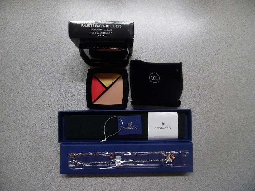 CHANEL Limited Edition Summer Essential Palette & SWAROVSKI Heart Bracelet Combo