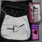 #Gucci Off-White Leather Shoulder Horsebit Hasler Hobo Bag