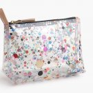 JCrew Multi-Clear Glitter Vinyl Makeup Pouch