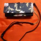 Le Chateau Floral Saffiano Faux Leather Wallet with Crossbody Strap