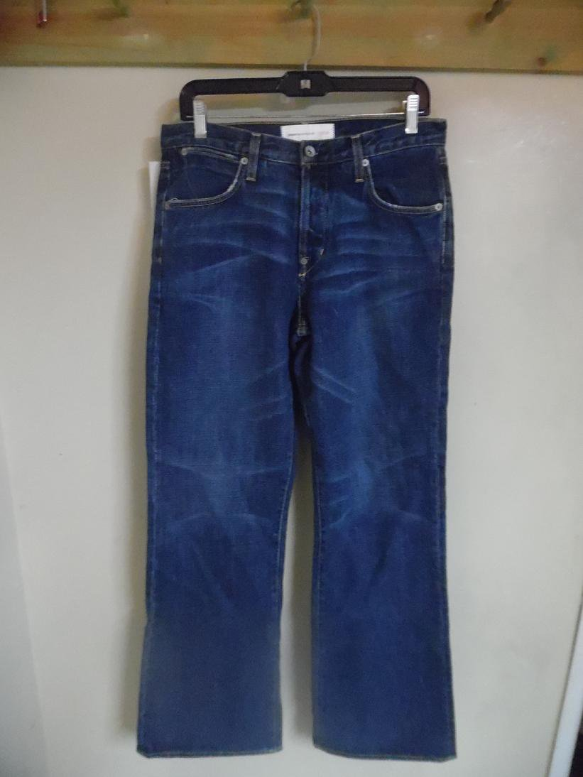 PAPER DENIM & CLOTH Button Fly Blue Jeans -  Size 31  (31 inches / 78.74 cm waist size)
