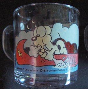 1980 McDonald Garfield Glass Mug by Anchor Hocking