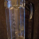 Large Clear glass pitcher with CTAL 1991 etched on one side