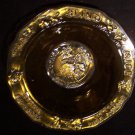 Vintage signed amber glass 'Mother Goose' bowl Tiara by R. S.