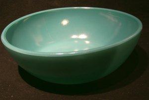 Hazel Atlas 'Ovide' glassware turqoise bowl