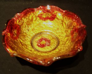 Small 'Goofus Glass' bowl