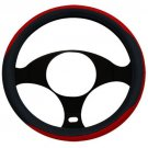 New One Steering Wheel Cover Black Red Universal Fit Luxury Series Comfort Grip