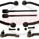 2 Upper Control Arms 2 Inner 2 Outer Tie Rods Thunderbird Cougar 1989 to 1997
