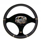 Steering Wheel Cover Design Universal Fit Luxury New Black Chrome High Quality