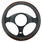 Easy Installation Non Slip Universal Brand New Grey / Wood Steering Wheel Cover