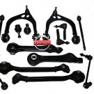 DODGE Front Suspension Upper Lower Control Arms Ball Joints Tie Rods Rack Ends