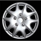"""Brand New Wheel Cover 14"""" Inches High Quality 4 Piece Set Silver Lacquer Hub Cup"""