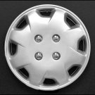 """14"""" Inches Hub Cap Set Of 4 Silver Lacquer Easy Installation No Tools Required"""