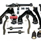 KIT REAR LOWER UPPER CONTROL ARMS BALL JOINTS SWAY BAR LINK INNER OUTER TIE ROD