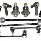 QX4 Front Strut Mounts Inner Outer Tie Rods Sway Bar Links Ball Joints RH & LH