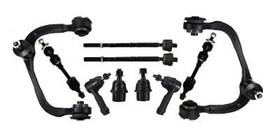 Front Suspension Upper Control Arms Lower Ball Joints Inner Outer Tie Rods Sway