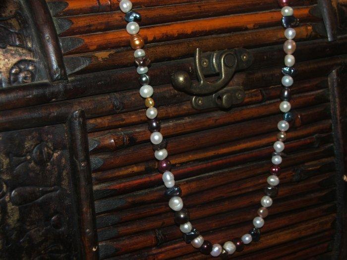 an assortment of beautiful fresh water pearls.