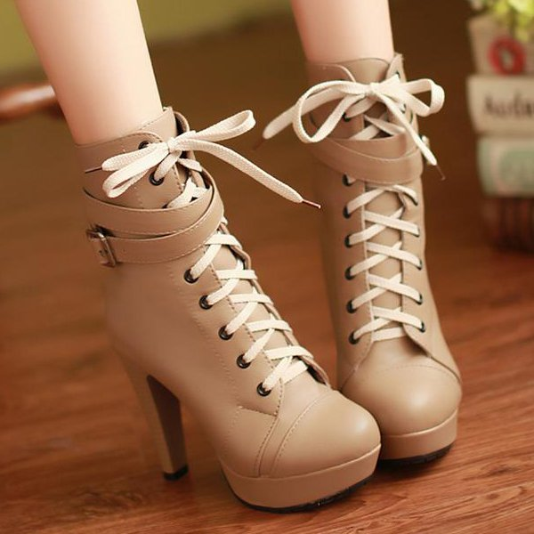 She's Strapped Booties Size 8 (American)