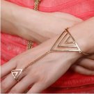 Gold Triangle Bracelet to Ring