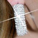 Gorgeous Five Line Rhinestone Curve Hoop Earring
