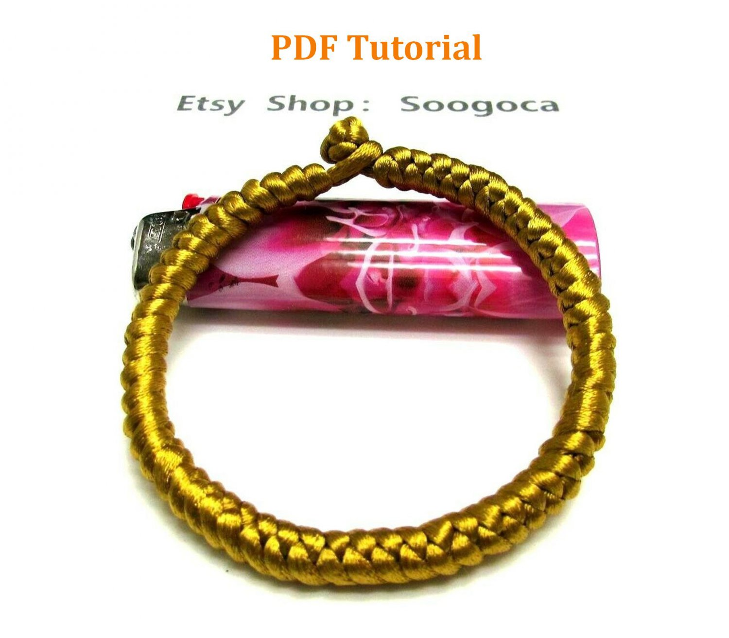 Instant Download Golden Amulet Knot Bracelet PDF Tutorial