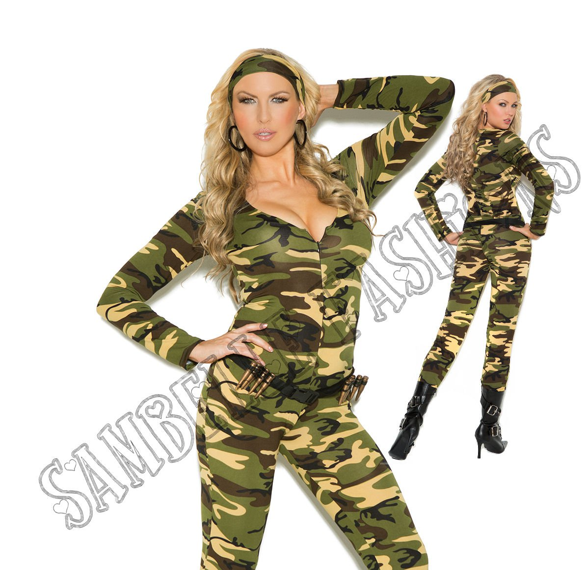 3pc Combat Warrior Military Army Costume - 3X/4X