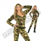 3pc Combat Warrior Military Army Costume - 1X/2X